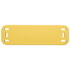 HID SlimFlex on-metal Tag I-code SLIx yellow w slot - 100 tags