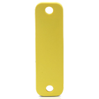 HID SlimFlex Tag 87x25mm yellow w 7mm hole - 100pcs